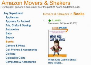 KIDS CALL THE SHOTS jumps to #1 on Amazon List July 28, 2015
