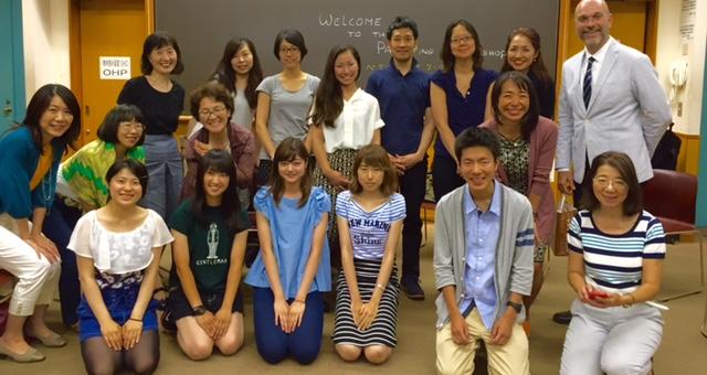Sean Grover at Meiji University, Tokyo Japan, July 17, 2015