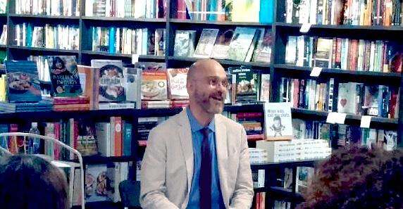 Sean Grover speaking at Harbor Books
