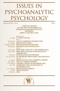 Issues in Psychoanalytic Psychology