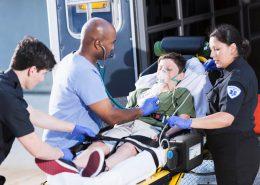 Ambulance EMT workers
